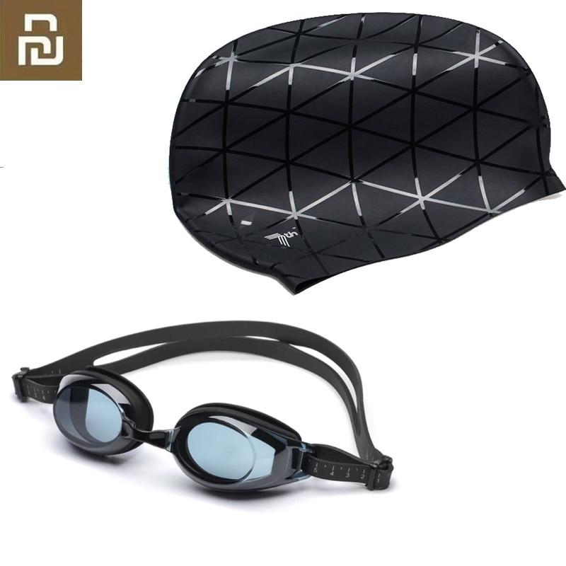 Очки для плавания TS, водонепроницаемые силиконовые 3D-очки для взрослых, регулируемые для женщин и мужчин с 7-й крышкой