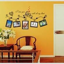 3D DIY Съемная фотография семья пленка с изображением дерева настенные наклейки/клей наклейки на стену, плакат искусство дома для украшения комнаты стены искусства
