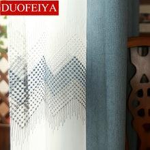 Window Curtain Gauze Curtain Product Embroiders Wave Europe Type Window Gauze Sitting Room Bedroom Wave Window Curtain Window