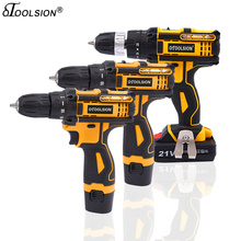 New 12.6V 16.8V 21V Dual Speed Electric Drill Cordless Screwdriver Power Tools With Rechargerable 1.5Ah Battery
