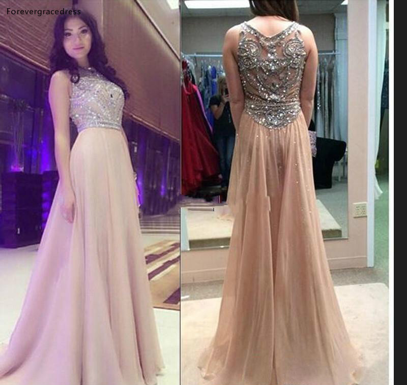 High Quality Champagne Prom Dress Long Holidays Wear Graduation Evening Party Gown Custom Made Plus Size