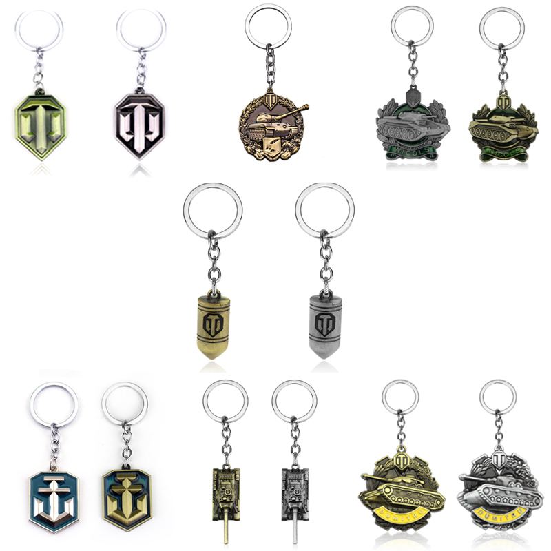 Game Jewelry World of Tanks WOT Metal Tank Keychain World of Tanks Amunition Bullet WOT NICOLS DUMITRU WOT Military Keychain image