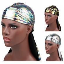 Hat Headband Silk Durag Women Satin Elastic Wig 1PC Cheveux Pirate Men's