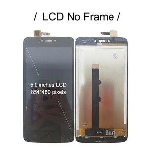 """Image 2 - 5.0 """"LCD için çerçeve ile Motorola Moto C XT1750 XT1754 XT1755 ekran dokunmatik ekran sensörü sayısallaştırıcı meclisi değiştirme yeni"""