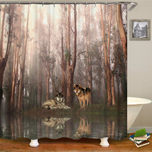 3D multi-pattern shower curtain bathroom supplies waterproof fabric shower curtain gauze with hook for home decoration tree pattern shower curtain 1pc with hook 12pcs