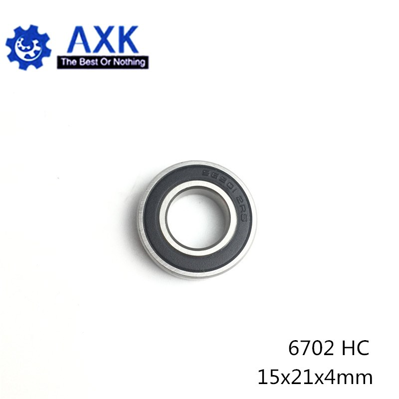 6702 Hybrid Ceramic Bearing 15*21*4 mm ABEC-1 ( 1 PC) Industry Motor Spindle 6702HC Hybrids Si3N4 Ball Bearings 3NC <font><b>6702RS</b></font> image