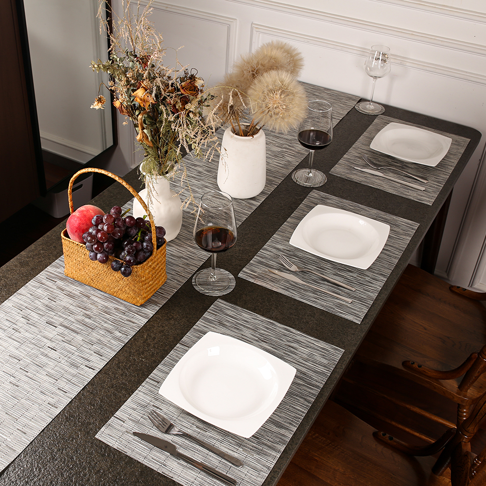 180CM Long Tablecloth European PVC Table Runner Set Luxury Easy To Clean Quick-drying Breathable Table Mat Coffee Table Flag