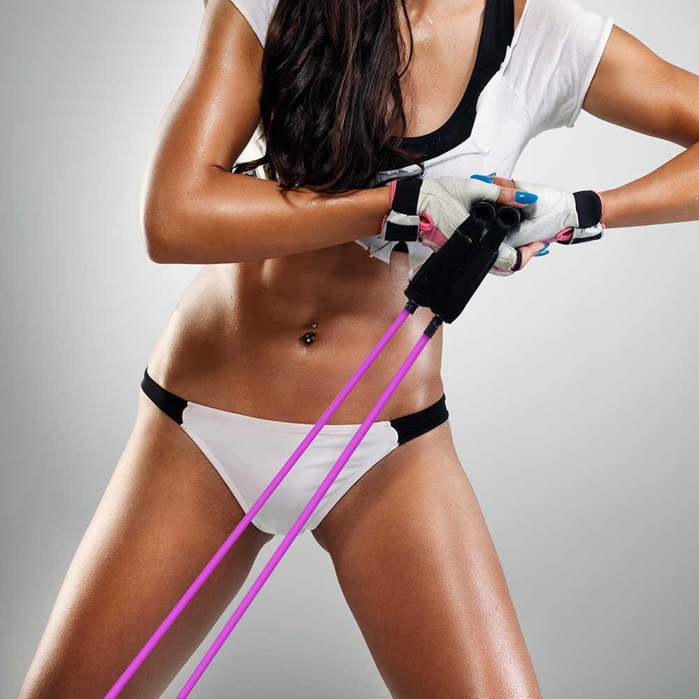 Joga ciągnąć liny Fitness elastyczne zespoły oporu trening zespoły do jogi Pilates Expander elastyczny uchwyt treningu Fitness 120cm