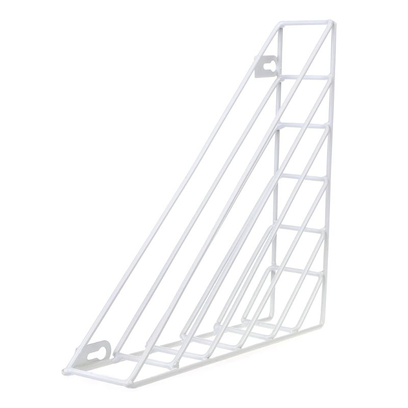 Nordic Geometric Iron Magazine Storage Rack Wall Basket Home Organizer Decor New K92F