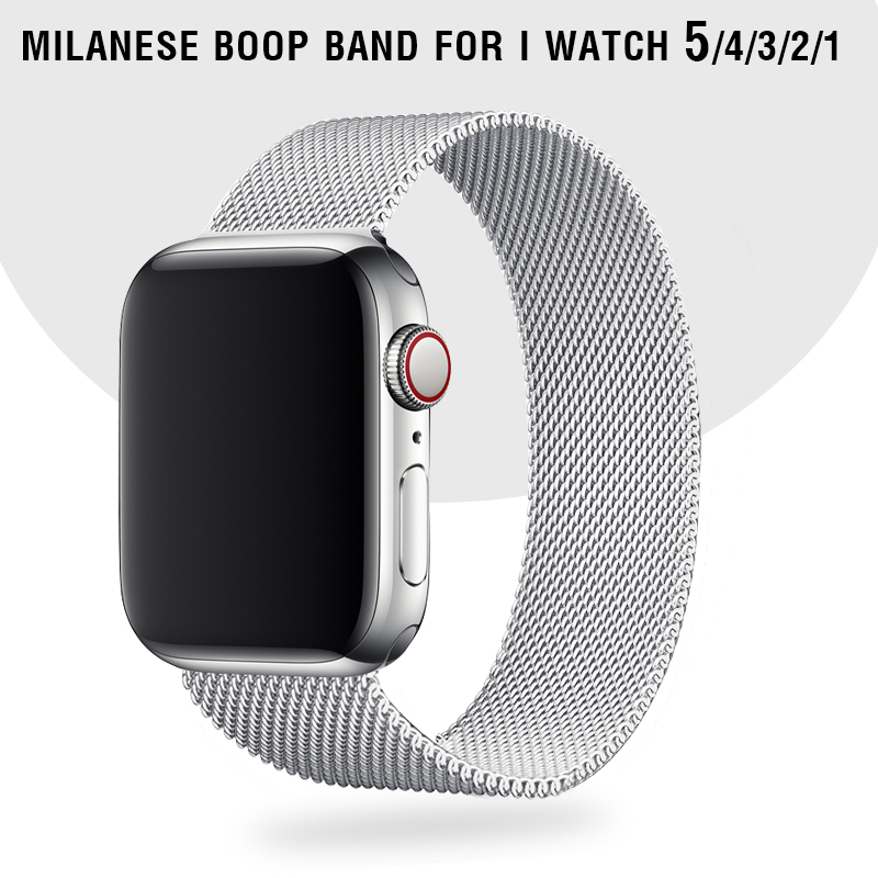 Silver-Bands Bracelet Metal-Straps Milanese-Loop Apple Watch I-Watch-Series for 42-Mm