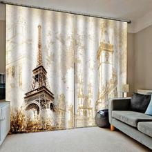 romantic tower curtains 3D Window Curtain For Living Room Bedroom Drapes Cortinas  Blackout curtain