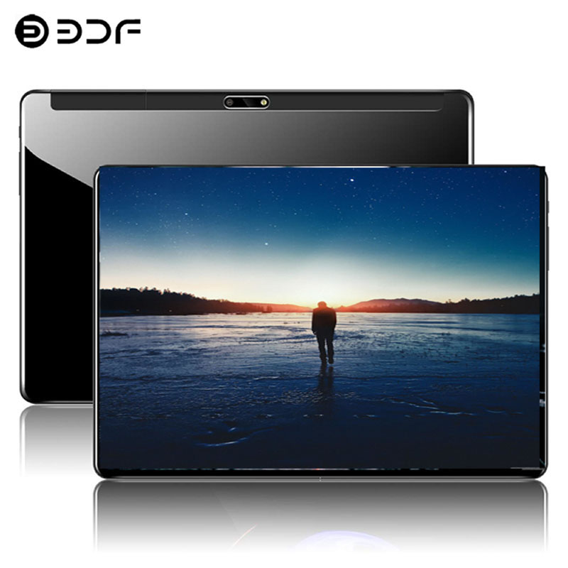 2.5D Steel Screen 10.1 Inch Tablet PC 4G Phone Call Android 9.0 Ten Core 8GB+128GB ROM Bluetooth Wi-FI Tablet PC+Keyboard