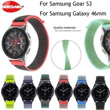 купить 22mm Nylon watch band For Samsung gear S3 Frontier strap Galaxy watch 46mm men's watches women's bracelet Gear S3 Classic Strap по цене 147.2 рублей