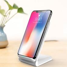 새로운 수직 데스크탑 무선 충전기 10W 빠른 충전 휴대 전화 홀더 휴대용 QI 충전기 아이폰 XIAOMI 화웨이 삼성