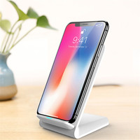 New vertical desktop wireless charger 10W fast charging mobile phone holder portable QI charger for iPhone XIAOMI HUAWEI Samsung|Mobile Phone Chargers|Cellphones & Telecommunications -