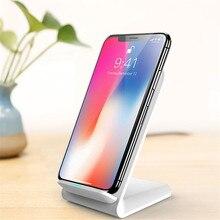 Nieuwe Verticale Desktop Draadloze Oplader 10W Snel Opladen Mobiele Telefoon Houder Draagbare Qi Lader Voor Iphone Xiaomi Huawei Samsung