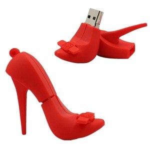 Creative Red High-Heeled Shoes Usb Flash Drive 256GB Pen Drive 128GB Flash Memory Card Usb Stick 512GB Pendrive Free Shipping