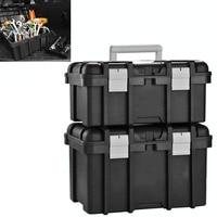 Caixa de ferramentas de armazenamento eletricista multifuncional caixa de ferramentas de plástico doméstico portátil caixa de ferramentas de grau industrial Estojos ferramenta     -
