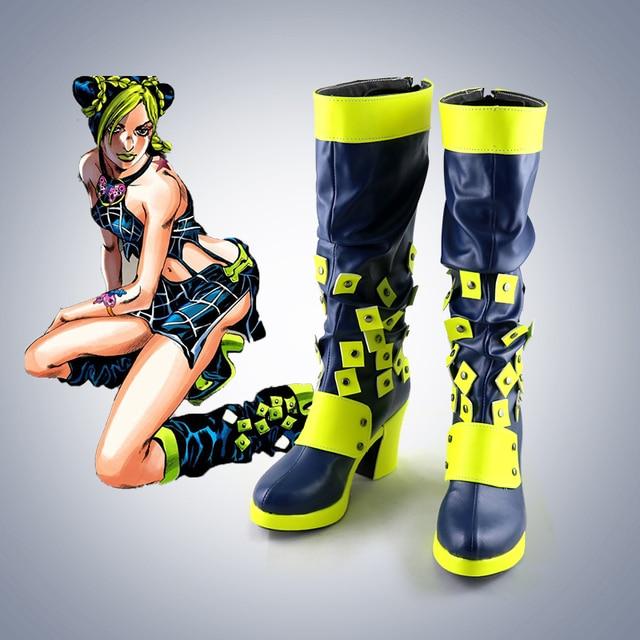 New  JoJo's Bizarre Adventure Jolyne Cujoh Kujo Cosplay boots Anime Shoes customized