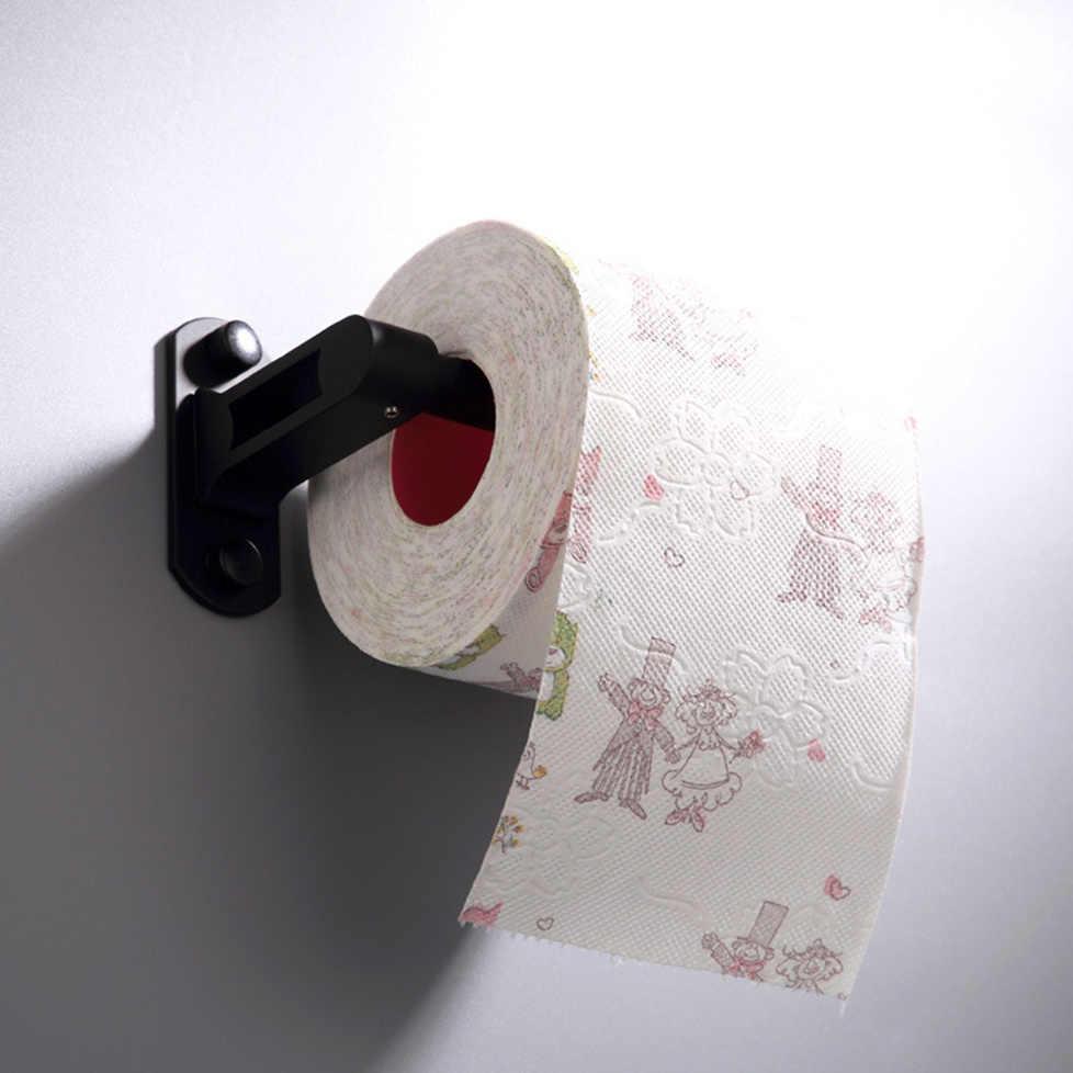 Czarny uchwyt na papier toaletowy aluminiowy uchwyt ścienny łazienka stojak na tkaninę wc toaleta rolkę papieru półka akcesoria do kąpieli