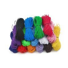25 метров 1 мм красочные бусины эластичный стрейч шнур Бусины Нить веревка для Diy браслет аксессуары для изготовления ювелирных изделий