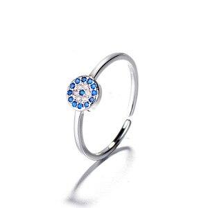 2019 nowa promocja Anel Masculino pierścienie evil eye pierścień otwarty pierścień złe oczy złoto srebro regulowany palec dla kobiet