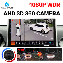 support HDMI, 2021 3D Key-Queen Car 360 Camera AVM Panoramic around view parking monitoring video recording DVR knob control WDR