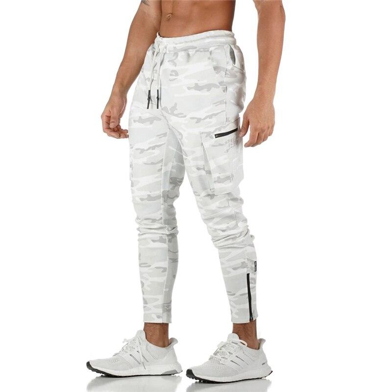 رجل عداء ببطء Pnats Sweatpants رجل صالات رياضية تجريب اللياقة البدنية سراويل قطنية ذكر عادية موضة نحيل السراويل الترنك سستة تصميم السراويل|السراويل بجيوب جانبية|   -