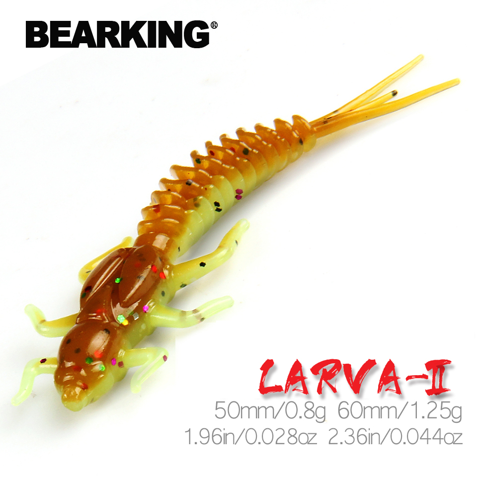 BEARKING new Larva Soft Lures 50mm 60mm Fishing Artificial Lures Silicone Bass Pike Minnow Swimbait Jigging Plastic Baits Worm|Fishing Lures|   - AliExpress