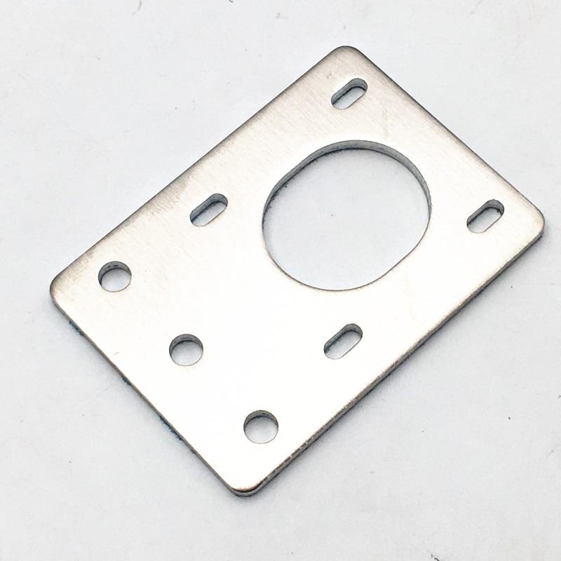 Funssor aluminum NEMA 17 Stepper Motor Mounting Plate adjustable 42 motor Fixing Bracket For Reprap CNC 2020 Profiles D-bot core