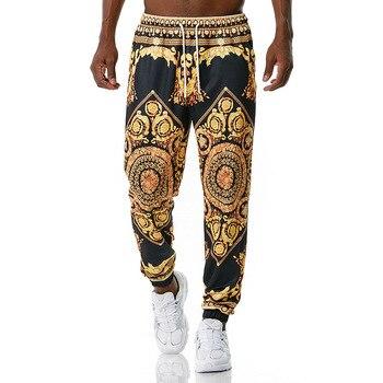 Luxury Royal Men Joggers Sweatpant 3D Floral Print Trousers Jogging Pants Men Casual Hip Hop Streetwear Sports Trousers Male XXL 1