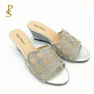 Image 4 - Wedges for women womans shoe with a net ladies shoes with drill diamond