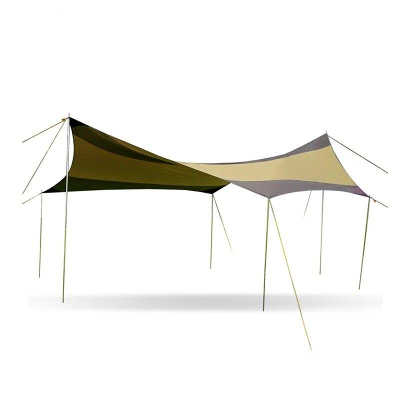 Ultralarge extérieur Anti Uv soleil abri Portable plage Pergola auvent auvent tente bâche abri pour plus de 8 personnes AA60635