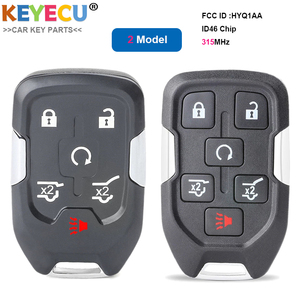 Image 2 - KEYECU 5PCS 스마트 Prox 원격 제어 자동차 키 GMC 유콘 타호 교외 지형 2015 2016 2017 2018 20 Fob 6 버튼 HYQ1AA