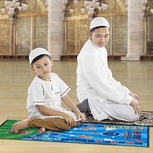 Tapete muçulmano crianças educacional tapete de oração muçulmano islâmico eletrônico interativo oração oração adoração musallah orador blanke