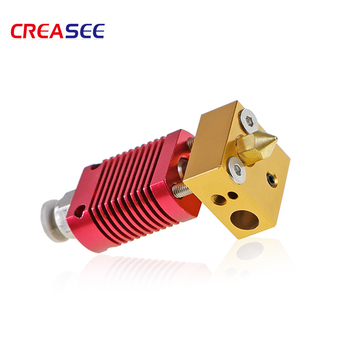 Assembled 1.75mm Extruder Hotend kit Aluminum Heat Block For 3D Printer Ender-3/CR-10/CR-10S With 0.4mm Nozzle 3D printer parts 3d printer parts cyclops 2 in 1 out 2 colors hotend 0 4 1 75mm 12v 24v fan bowden with titan bulldog extruder multi color nozzle