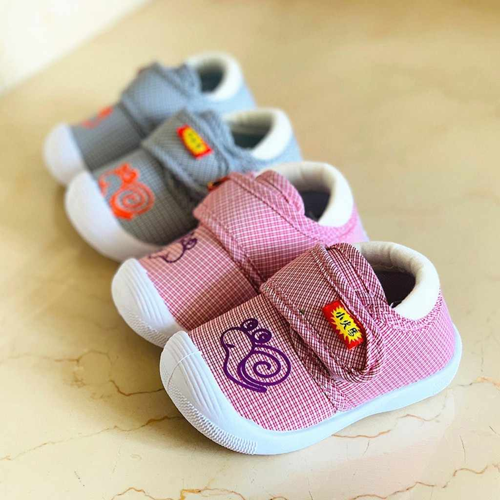 Toddler Children Kids Baby Cute Cartoon Snail Squeaky Soft Sole Shoes Sneakers  Children's suit High Quality