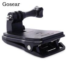 Gosear ראש חגורת רצועת קליפ מהדק הר Bracket מתאם מוט עבור Gopro Go Pro Hero 5 4 3 2 Xiaomi יי 2 השני 4 K 4 K SJ4000 Eken H9