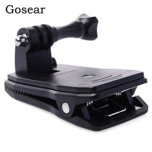 Gosear Head Belt Strap Clip Clamp Mount Bracket Adapter Rod for Gopro Go Pro Hero 5 4 3 2 Xiaomi Yi 2 II 4K 4 K SJ4000 Eken H9(China)
