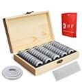 50 шт в наборе, контейнер для хранения деревянные круглые монеты капсулами чехол коллекция монет коробка 18-30 мм Дисплей Чехол Коробка для хра...