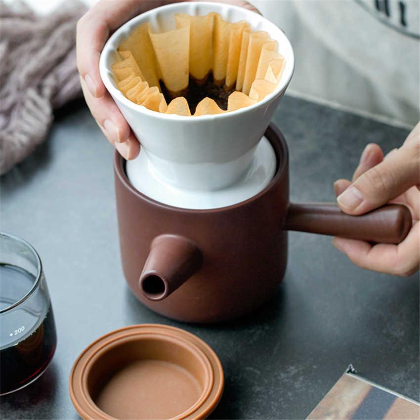 1 definir Copos de Cerâmica Xícara de Café Xícara de Café Espresso Filtro Funil V60 Compartilhamento de Gotejamento de Café pote de Café Portátil Acessórios