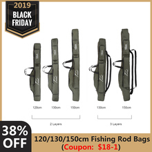 FDDL Portable Folding Fishing Rod Bags Carrier Canvas Fishing Rod Cover Pole Sto