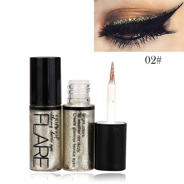 Professional 5 Colors Glitter Liquid Eyeliner Easy to Wear Waterproof Pigments Shimmer Party Make Up Liquid Shining eye liner 3