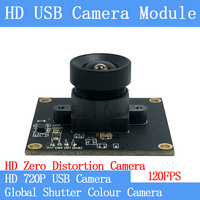 120FPS MJPEG USB Camera Module Non Distortion Colour Global Shutter High Speed OTG Windows Android Linux UVC 720P USB Webcam