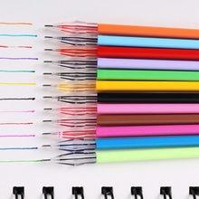 12 pièces/ensemble diamant tête recharges crayon fournitures couleur bonbon rouleau boule Gel stylo recharge étudiant écriture peinture fournitures