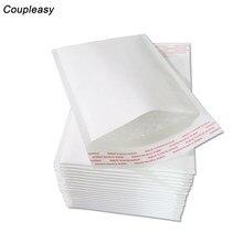 10 pçs/lote Branco Papel Kraft Envelopes Bolha Auto Selo Utentes Bolha Engrosse Acolchoado Envio Envelope Com Bolha Sacos de Discussão