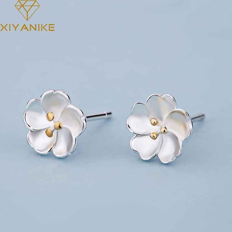 Design 2 925 Sterling Silver Butterfly Stud Earrings