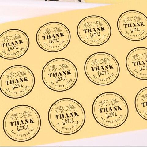 1000 pcs lote redondo transparente obrigado para tudo o selo de papel adesivos para produtos