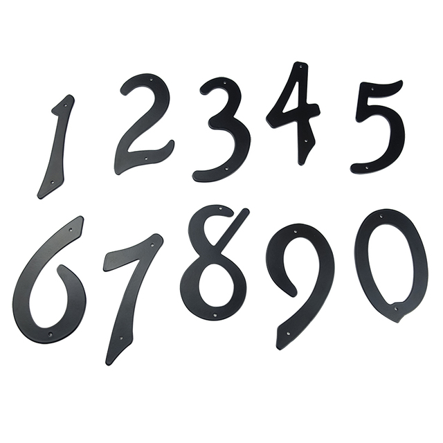 10cm Modern House Number Door Home Address Mailbox Numbers for House Digital Door Outdoor Sign 4 Inch. #0-9 Aliuminum Black
