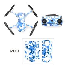 Kit de couverture denveloppe de peau de décalque dautocollant décoratif imperméable pour des pièces daccessoires de Mini Drone de DJI Mavic